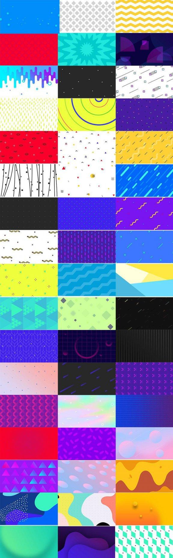 第125期 100款几何背景创意背景banner轮播图潮流趣味炫酷UI设计素材纹理