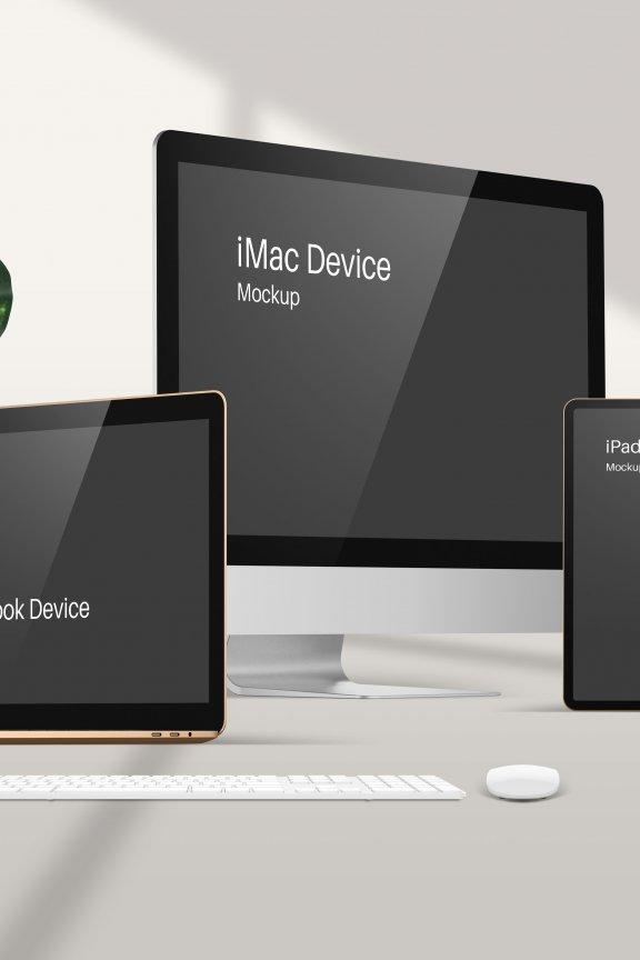 第569期 苹果智能设备app网页界面ui设计贴图ps样机素材场景展示效果模板