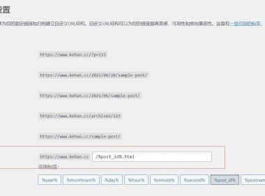wordpress主题设置固定链接?